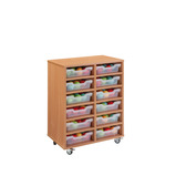 TRAY UNIT 12 SHALLOW CUBBY CLR BEECH