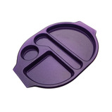 LARGE MEAL TRAY PURPLE SPARKLE PK12