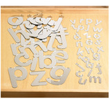 MIRRORED LETTERS 70MM PACK OF 26