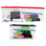 PENCIL CASE CLEAR PVC PACK OF 12