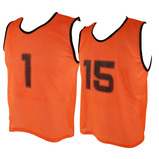 Numbered Mesh Training Vests