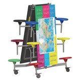 World Map Rectangular Folding Table