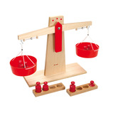 WOODEN SCALES AND PLASTIC WEIGHTS
