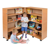 4 Shelf Hinged Bookcase