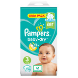 PAMPERS BABY DRY SIZE 3 PK136