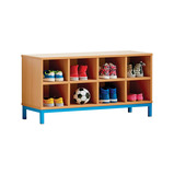 8 OPEN COMPARTMENT BENCH CYAN