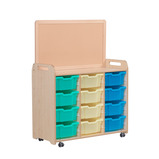 Triple Column Storage with Magnetic Top Divider