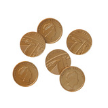 PLASIC TWO POUND COINS