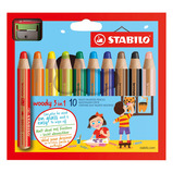 STABILO WOODY3IN1 ASSTD PK10