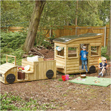 Outdoor Wooden Truck and Caravan Big Deal