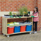 Small Outdoor Mobile Shelving Unit