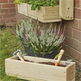 INDIVIDUAL WOODEN PLANTER SET WALL MOUNTED