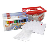 Playcolor Textile Paint Stick & T-Shirt Classpack