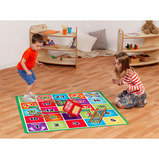 Dice With Snakes & Ladders Mat
