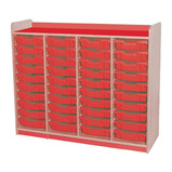 Quad Column 40 Tray Shallow Unit