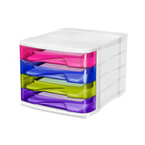 Multi Colour Desktop Drawer Unit