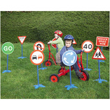 OUTDOOR TRAFFIC SIGNS SET 10PK
