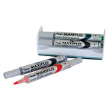 Pentel Maxiflo Whiteboard Marker and Magnetic Eraser Set