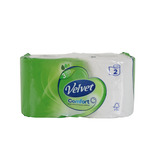 TRIPLE VELVET TOILET ROLL CASE WHITE