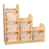 3 Tier Stepped Storage Cube with Trays