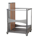 Single Rect Fast Fold Table Trolley