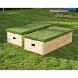 Outdoor Storage Bench Grass Lid