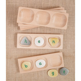 Three Pebble Word Building Tray