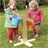 Outdoor Wooden Buckets and Scales Set