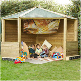 Wooden Outdoor Play Corner Cottage
