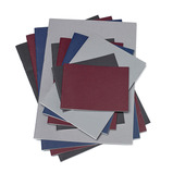 A3 100GSM PLAIN STAPLED SKETCHBOOK BURGUNDY 10PK