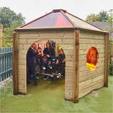 Outdoor Rainbow Den with Wheelchair Access