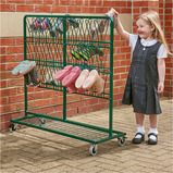 Green Double Sided Metal Wellie Rack