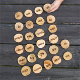 Wooden 100 High Frequency Word Pieces