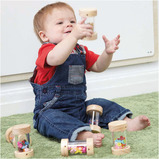 WOODEN SHAKERS FOR BABIES 6PK