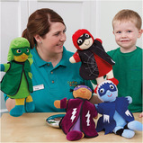 ROLE PLAY SUPERHERO PUPPETS 4PK