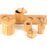 WOODEN TODDLER SORTING POTS