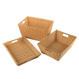 PLASTIC WICKER BASKET EXTRA DEEP