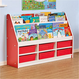 Valencia Tiered Book Storage Units Red