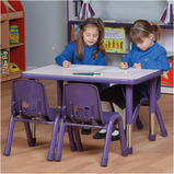 Valencia Rectangular 4 Seater Table Purple