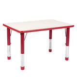 Valencia Rectangular 4 Seater Table Red