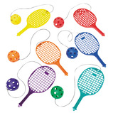 BAT WITH BALL ON STRING 6PK