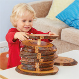 Wooden Rustic Number Stacker