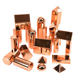 Rose Gold Metallic 3D Shape Collection