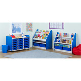 VALENCIA 18 TRAY STORAGE UNIT BLUE