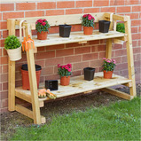 FOUR TIERED OUTDOOR SHELVING UNIT