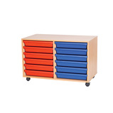 A3 12 TRAY MOBILE UNIT BEECH/BLUE