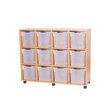 12 JUMBO TRAY MOBILE UNIT BEECH/PURP