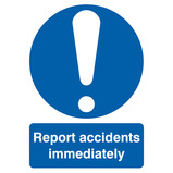 'REPORT ALL ACCIDENTS' SIGN