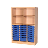 OPEN TALL TRAY/SHELF UNIT 1500MM GREY/BLUE