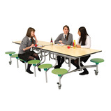 Rectangular Mobile Folding Table Seating Units